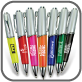 Pens-Ballpoint-Gel Ink; Pens-Ballpoint-Plunger Action; Pens-Ballpoint-With Grip Section, Metallic Blue, Metallic Charcoal, Translucent Blue, Translucent Charcoal, Translucent Green, Translucent Orange, Translucent Purple, Translucent Red , Medium point, gel black ink , www.azprecisiongraphics.com