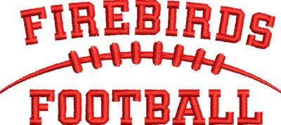 Firebirds Football Bird Red Embroidery