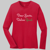 Ladies Red Long Sleeve Chistmas Shirt
