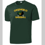 Forest Performance Tee Greenfield Baseball Design