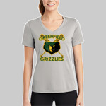 Silver Ladies V Neck Competitor™ Tee