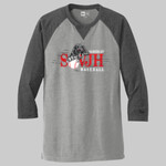 New Era Sueded Cotton Blend 3/4 Sleeve Baseball Raglan Tee