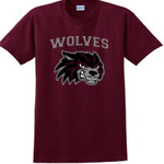 Wolves Football Maroon T-Shirt