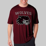 Wolves Football Maroon Performance Shirt