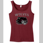 Wolves Football Ladies Maroon Tank Top
