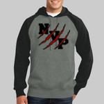 Black & Grey Hooded Sweatshirt