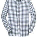Tricolor Check Slim Fit Non Iron Shirt