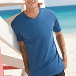 District Made™ Mens Perfect Weight V-Neck Tee. DT1170