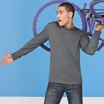 District® - Young Mens Textured Long Sleeve Tee. DT171