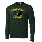 Forest Performance L/s Tee Greenfield Baseball Design
