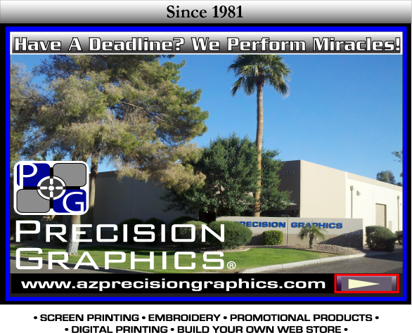 Precision Graphics, Azprecisiongraphics, tshirt, shirt, screenprinting, t-shirt, custom promotional products, embroidery phoenix