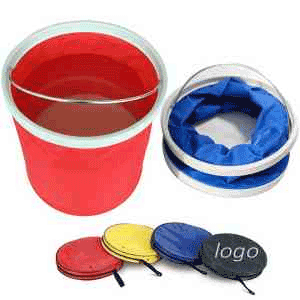 floatation device, folding bucket, foldable buckets, floating, float on, boating cleaning supplies